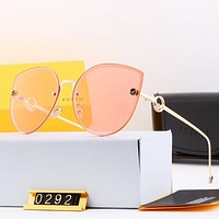 FENDI Newest Popular Women Chic F Letter Sun Shades Eyeglasses Glasses Sunglasses