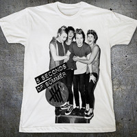 5 Seconds of Summer 5SOS Luke Hemmings Michael Clifford Unisex White T-Shirt S to XXL