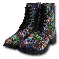 Marvel Comic Print Women's Boots