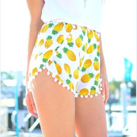 Pineapple Pattern Summer Fashion Style Lovely Women Clothing = 4697436868