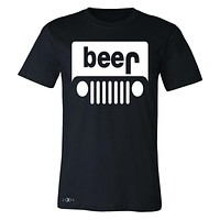 Zexpa Apparel™ Beer Jeep Funny  Men's T-shirt Drinking Off-Road Party Alcohol Tee