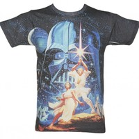 Men's Star Wars A New Hope Movie Poster Sublimation T-Shirt : TruffleShuffle.com