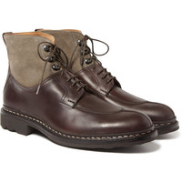 HeschungGinkgo Leather and Suede Boots|MR PORTER