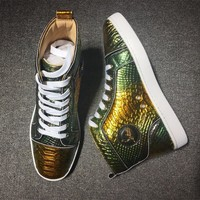 Cl Christian Louboutin Python Style #2250 Sneakers Fashion Shoes