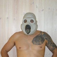 Halloween gas mask gorilla mask russian monkey face EO-19 PBF grey rubber steampunk goth spooky military for him