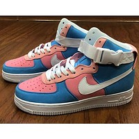 Nike Air Force 1 AF1 new couple color block high-top sneakers Shoes