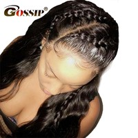 Brazilian Water Wave 360 Lace Frontal Wig Pre Plucked With Baby Hair Gossip Lace Front Human Hair Wigs For Black Women Non Remy