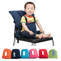 Portable Baby Seat Kids Feeding Chair Baby Infant Safety Belt Seat High Chair Bag Sack Seat 6 colors