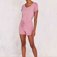 BDG Cuffed Knit Tee Romper - Urban Outfitters