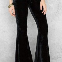 The Hippie Bell Bottoms - Black Velvet