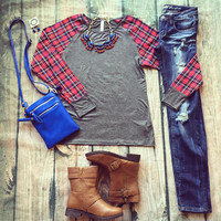 """Plaid And Subtract"" Top"