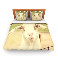 "Angie Turner ""Happy Goat"" Smiling Animal Lightweight Duvet Cover"