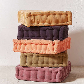 Washed Corduroy Floor Pillow   Urban Outfitters