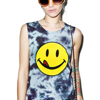 Petals and Peacocks Lickity Split Destroyed Tank Top Multi