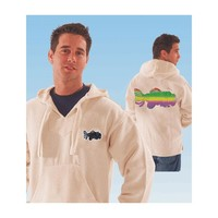 Jerry Garcia Men's  Tie Dye Fish Hooded Sweatshirt White Rockabilia