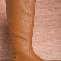 Wanted Smooth Operator Antonio Tall Mid Calf Riding Boots - Tan