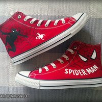 Spider-Man Custom Converse / Painted Shoes