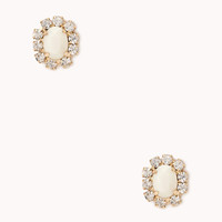 FOREVER 21 Glam Faux Stone Studs