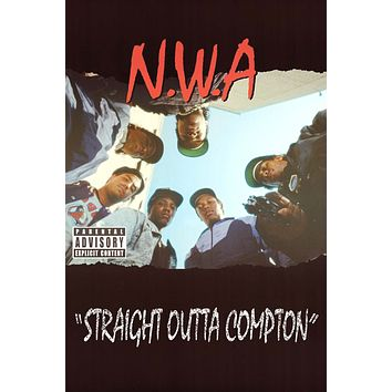"""N.W.A. Straight Outta Compton Poster 24""""x36"""""""