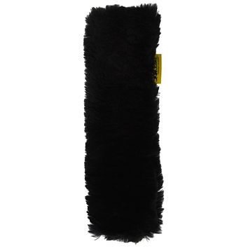 Skwoosh Authentic Sheepskin Car Seat Belt Cover Shoulder Seatbelt Pad for Adults Youth Kids Toddlers - Auto, Truck, SUV, Airplane Accessories - Genuine Natural Soft Merino Wool (Black) Black