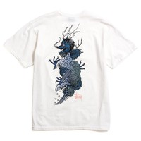 Wave Dragon Pigment Dyed T-Shirt Natural