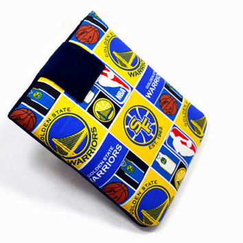 Hand Crafted Tablet Case From Licensed SF Golden State Warriors Basketball Fabric / Case for: iPad, Kindle Fire HD 7,Samsung Galaxy 7, Nook