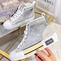 Christian Dior new letter print men's and women's high-top sneakers Shoes #4