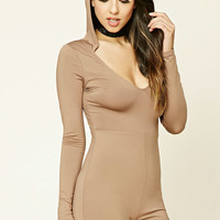 Hooded V-Neck Bodysuit