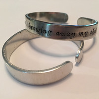 Hamilton I Am Not Throwing Away My Shot Handstamped Cuff Bracelet - Hamilton Jewelry Broadway Bracelet Hamilton the Musical