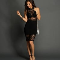 Black Friday Night Midi Dress