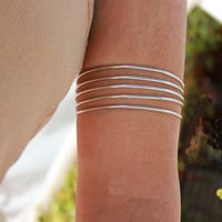 Good Fortune Silver Biceps Armlet