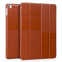 iVAPO iPad Air 2 Case, [Fashion Series] Retro Smart-shell Folio Cover, [Multiple View Angles Stand Function] Lightweight Slim Flip Case with Auto On/Off Feature Perfect Fit For iPad Air 2 (iPad 6th gen 2014) (MM545) (Brown)
