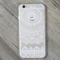 Hollow Out Lace Sunflower Cover Case for iPhone 7 5s se 6 6s Plus Gift + Gift Box