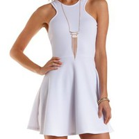 Cut-Out Racer Front Skater Dress by Charlotte Russe
