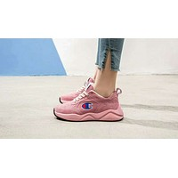 Champion 93Eighteen Tide brand classic big C embroidery logo men and women sports shoes pink