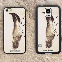 Custom Quill name case iphone 4 4s iphone  5 5s iphone 5c case samsung galaxy s3 s4 case s5 galaxy note2 note3 case cover skin