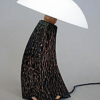 Benny Goodman II Mini Black Inverse: Cosmo Barbaro: Wood Table Lamp - Artful Home