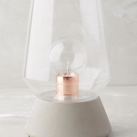 Faceted Glass Table Lamp