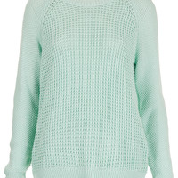 Mix Knit Slouchy Jumper - Knitwear - Clothing - Topshop
