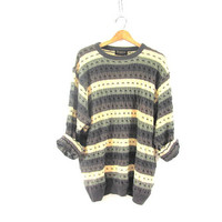20% OFF SALE. 90s striped pullover sweater. mens sweater. size XL