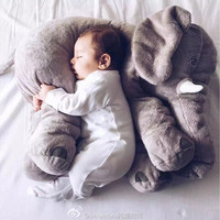 Fashion Baby Animal Elephant Style Placate Doll Stuffed Plush Pillow Kids Room Bed Decoration Toys [9303708874]