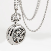 Snow Flake Pocket Watch
