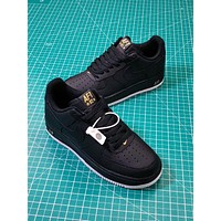 Nike Air Force 1 Low Crest Logo Black | Aa4083-014 Sport Shoes
