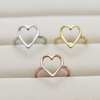 jewelry heart finger ring for  ladie's R815