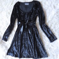 Vintage Velvet 90s Grunge Dress Velour Velveteen