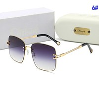 Chloe Stylish Women Popular Summer Sun Shades Eyeglasses Glasses Sunglasses 6#
