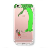 Giving Tree iPhone 6 Case iPhone 6s Plus Case Galaxy S6 Edge Clear Hard Case C133