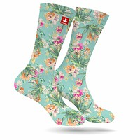 Watercolor Kush Weed Socks