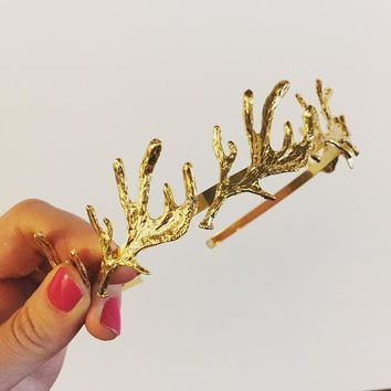 Benevolent Queen of the Enchanted Business Forest Antler Business Tiara