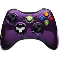 Microsoft - Special Edition Chrome Series Wireless Controller for Xbox 360 - Purple